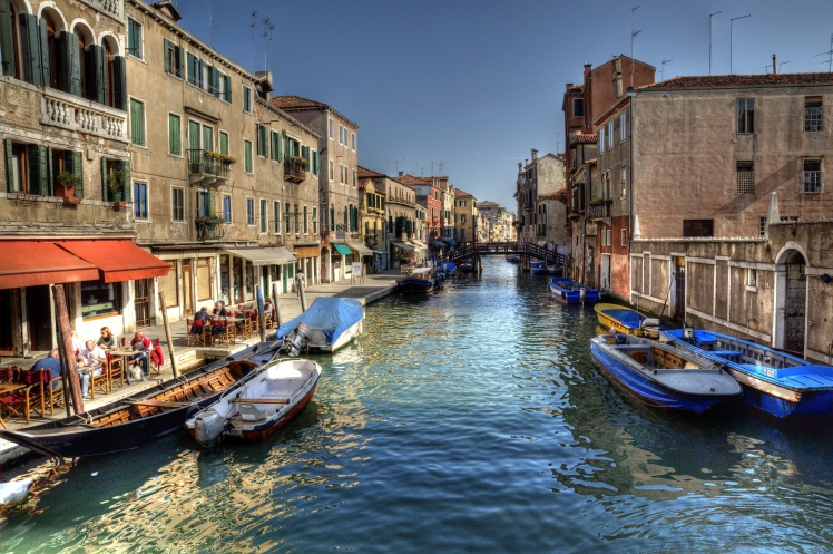 Jewish Quarter Canal, Venice, Italy.