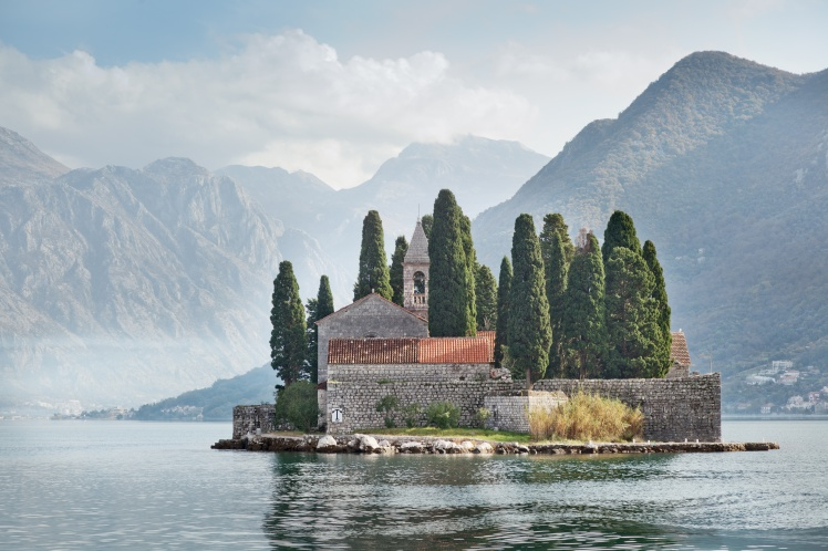 Perast, Kotor bay, Montenegro, Adriatic sea.